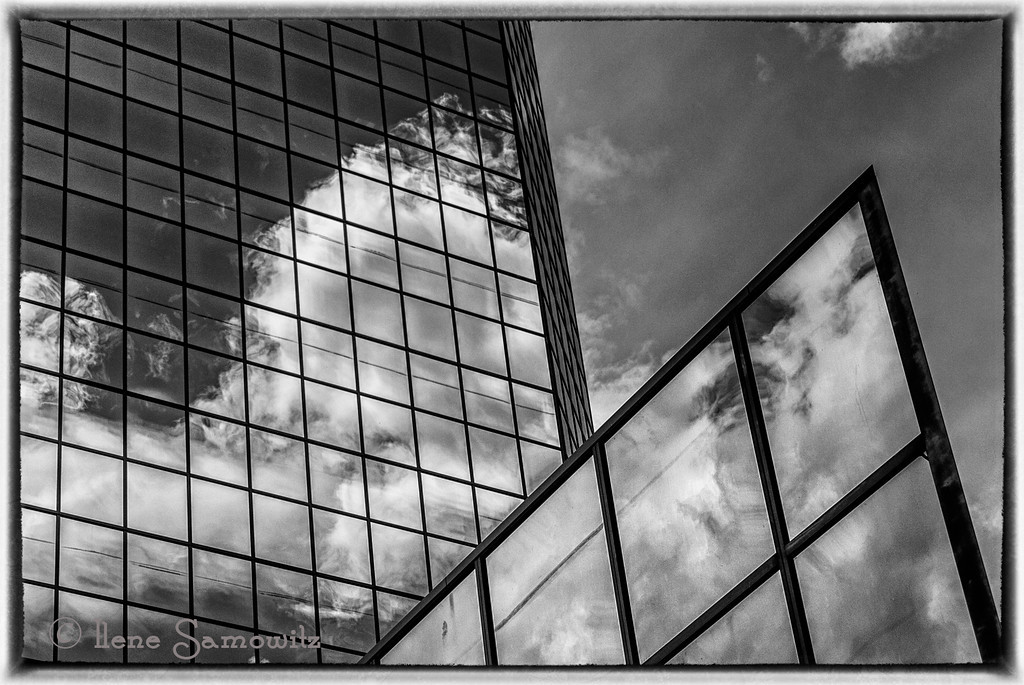 6-1-13 Another Bellevue, WA skyscraper reflection.  I love these and can always enjoy the distortion.