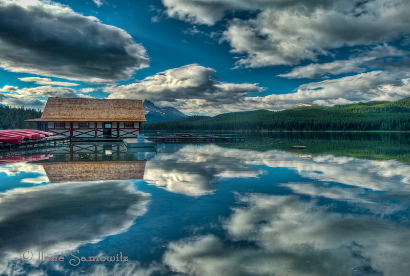 7-8-13 Maligne Lake, Canadian Rockies, Jasper National Park. From the archives.