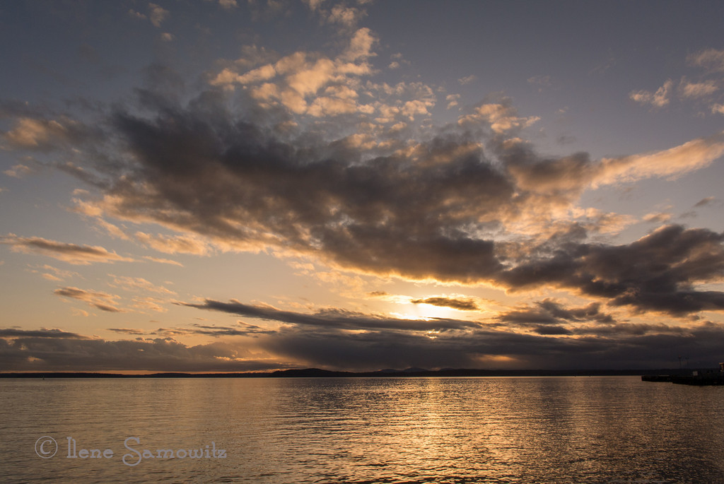 3-8-13 Sunset over Puget Sound