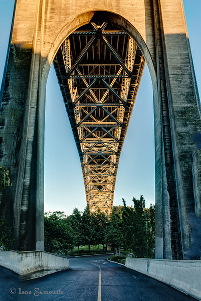 7-1-13 The sun was hitting the Aurora bridge and casting beautiful light.