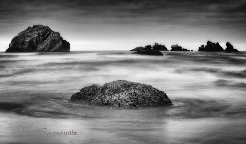 1-19-13 Bandon Face Rock in Black and White<br /> <br /> Critiques Welcome