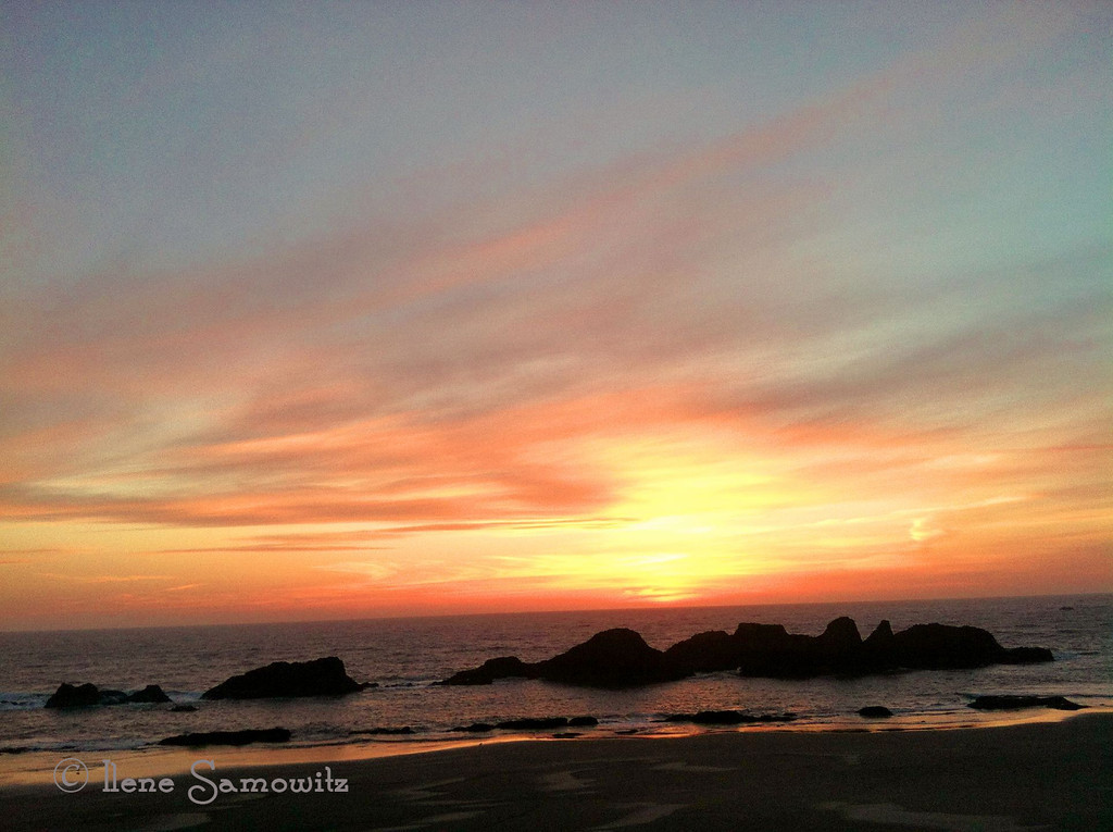 5-1-13 Seal Rock Sunset taken this evening with my iPhone.  Thanks forte wonderful feedback that I have been receiving.