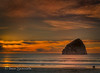 12-31-13 Beautiful sunset at Pacific City, Oregon looking at Haystack Rock.  Happy New Year to all  I appreciate this community that I have been part of for the last two years. This is the beginning of my third year. I appreciate the support and inspiration as well as the sharing.