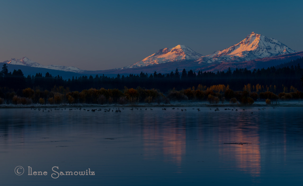Three Sisters shot from outside of Bend, Oregon