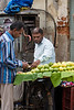Market scene on Commercial Street in Bangalore