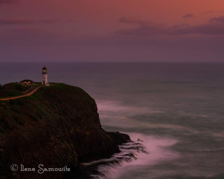 Kīlauea lighthouse at dawn.