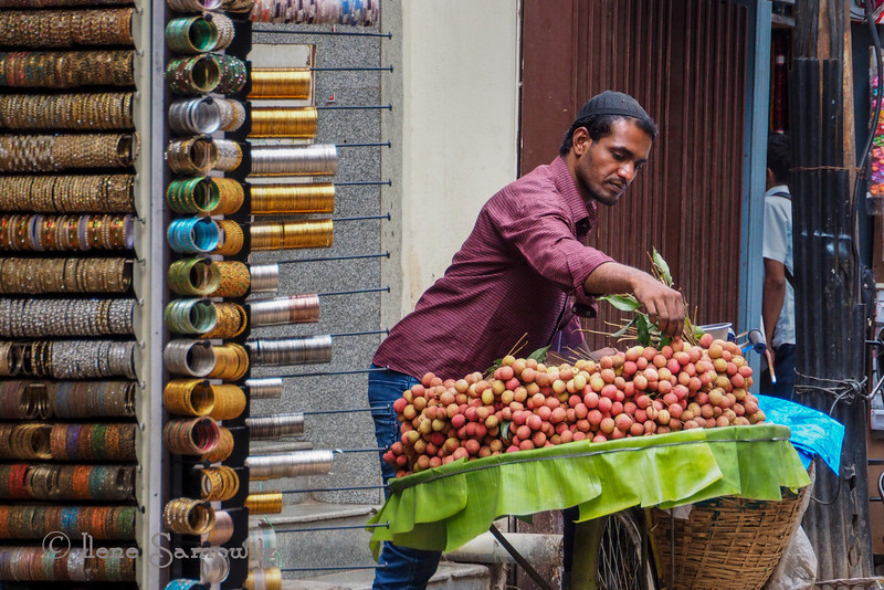 Another Commercial Street vendor in Bangalore