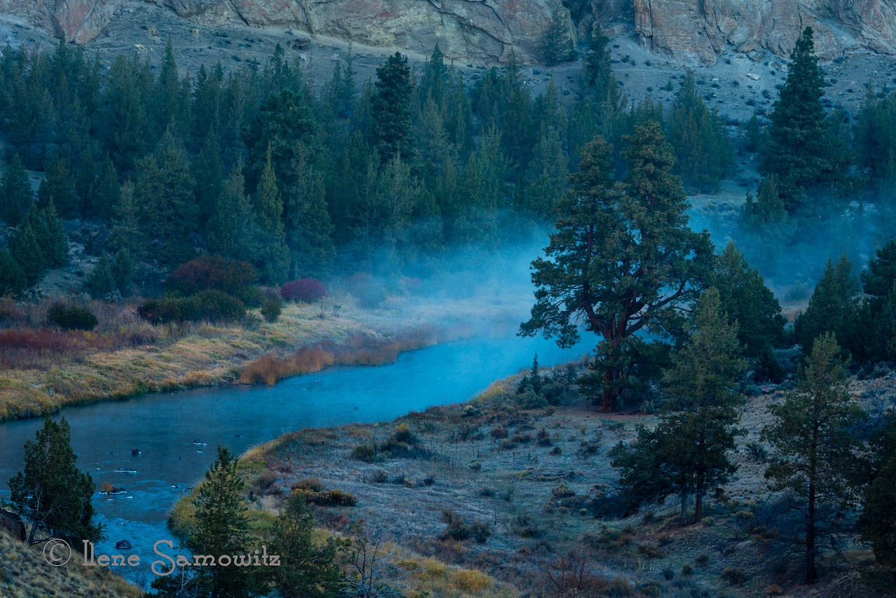 Crooked River Misty Morning, Oregon<br /> <br /> I'm in the Bangalore Airport waiting for my flight to Delhi. For those who asked, I came to India with coworkers for business. I stayed on for a week by myself.  I've been accompanied for my travels by individuals from my offshore Indian team. I am traveling back home solo.<br /> <br /> I also had the pleasure of having a too brief conversation with Harsh. I know it could have gone on much longer because we started to talk about how we do our processing. Thanks again Harsh for your hospitality.