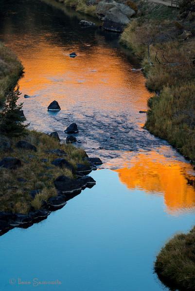 Sunrise reflection at Smith Rock