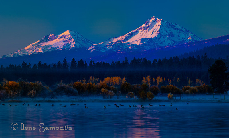 Sisters in early morning light. Oregon