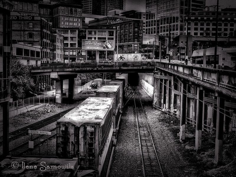 This is the 1st BW photo I posted for the challenge that Vandana tagged me for. It was taken in downtown Seattle.