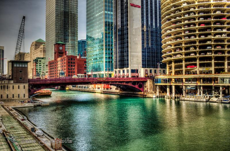 Dearborn Street Bridge in Chicago - love the Fuji Velvia