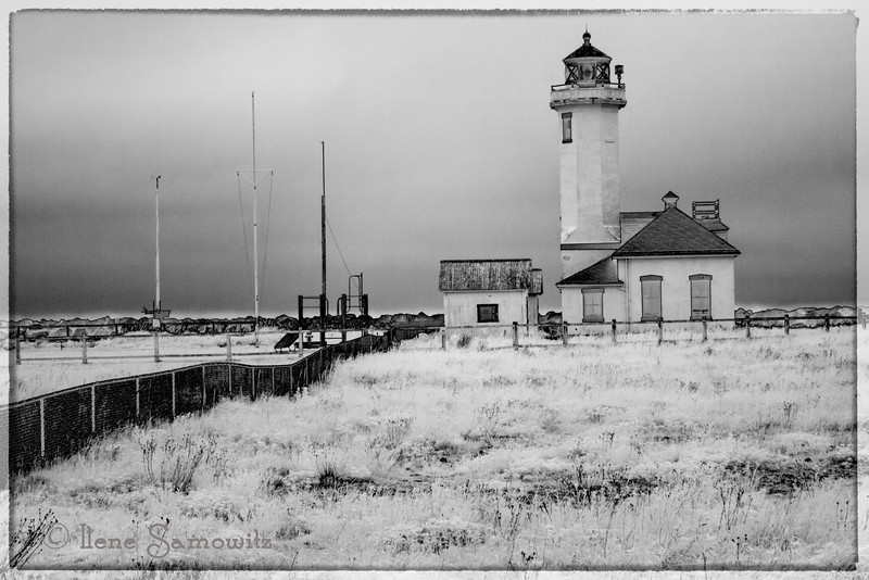Here is a black and white IR of Point Wilson