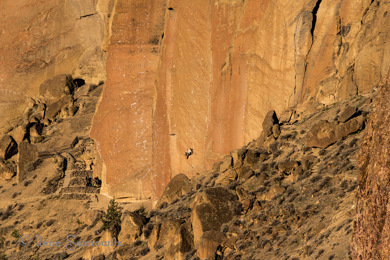 Rock Climbing at Smith  Rock, Oregon