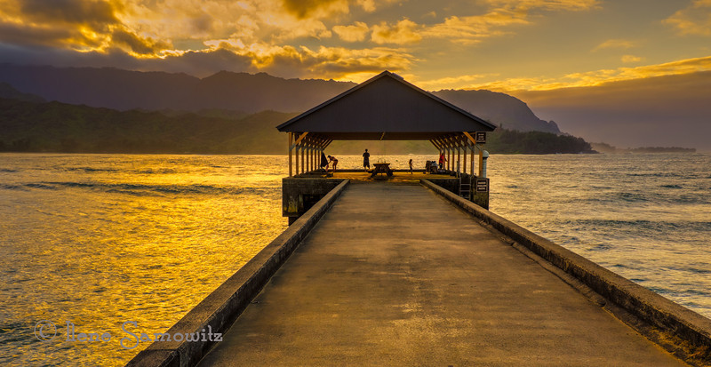 Hanalei sunset at the pier.  Kauai. <br /> <br /> Sunday's are so fun with seeing all the creative alphabet images. I continue to be inspired.<br /> Thanks for making this the number one shot on 2/17/14.