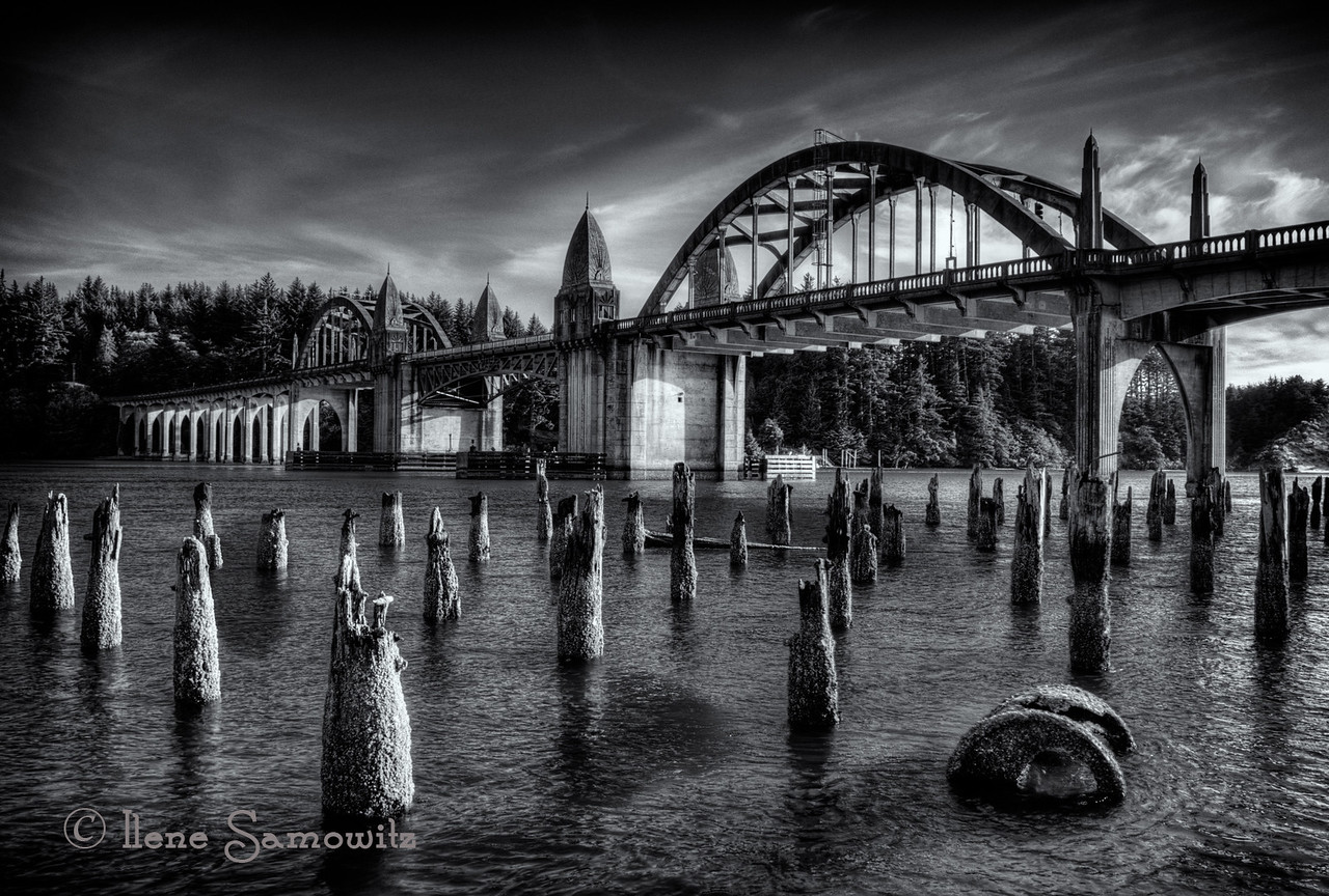 Bridge in Florence, Oregon over the Siuslaw Rvier.