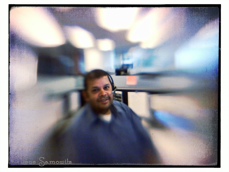 Sachin-taken in my work office with iPhone 5s with new Lensbaby lm-10 attachment.