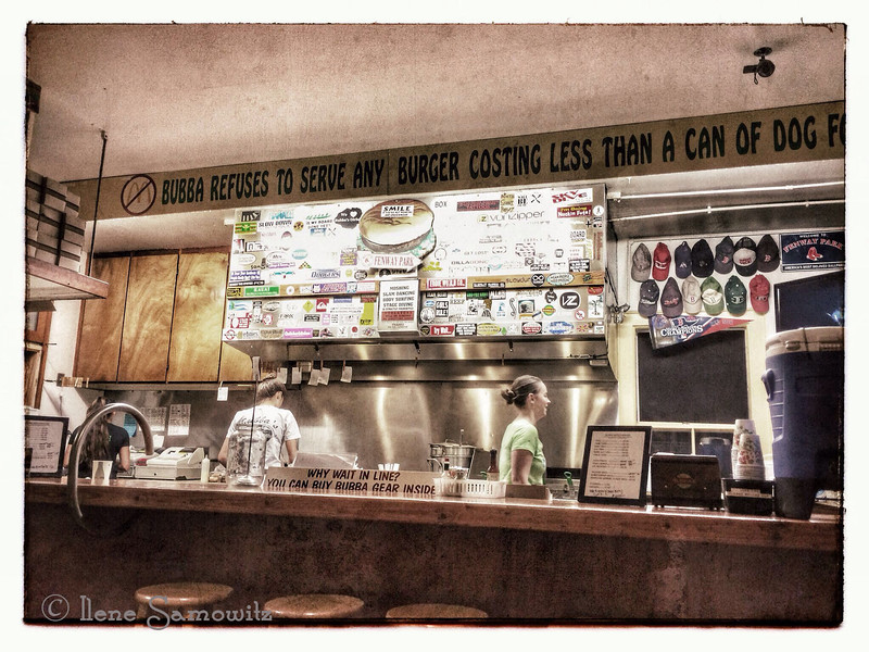 Bubba's Hamburger Joint in Kauai.  The burgers and taro burgers were great. We ate there a few times. They served burgers with Kauai beef.