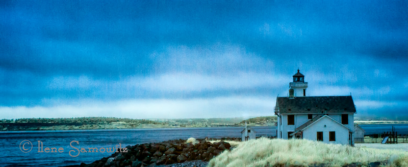 Yet another IR capture of Point Hudson lighthouse, WA