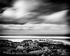 I love the clouds on this 130 sec exposure.  Converted to Black and White with Silver Effects 2.  Taken at Yachats, Oregon.