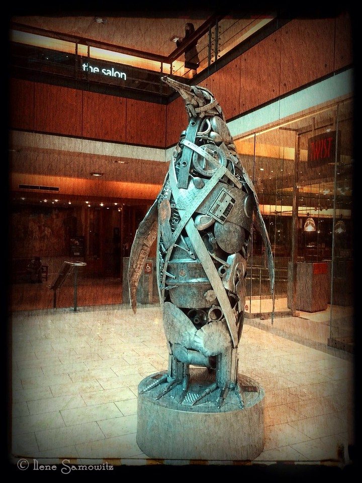 Penguin Sculpture found at Westlake Mall, Seattle.