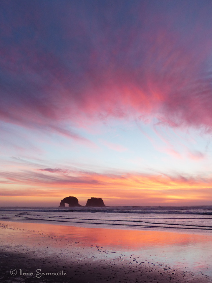 Rockaway Beach in February.  The weather on the Oregon coast was unreal this weekend and we had two nights of incredible sunsets and weather in the sixties.  I am so glad we got to go down.