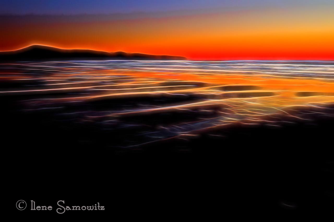 Minimalist Sunset with Topaz Glow
