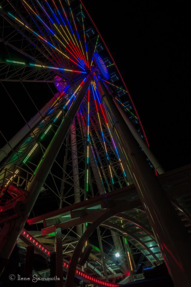 Looking Up at the Big Wheel.