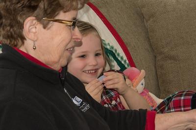 Grandma and Bevin reading books