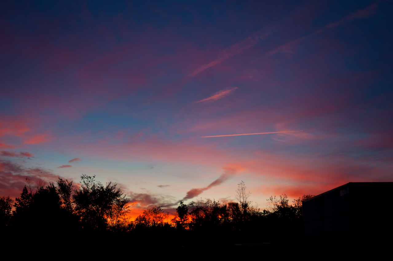 Sunrise at the farm.