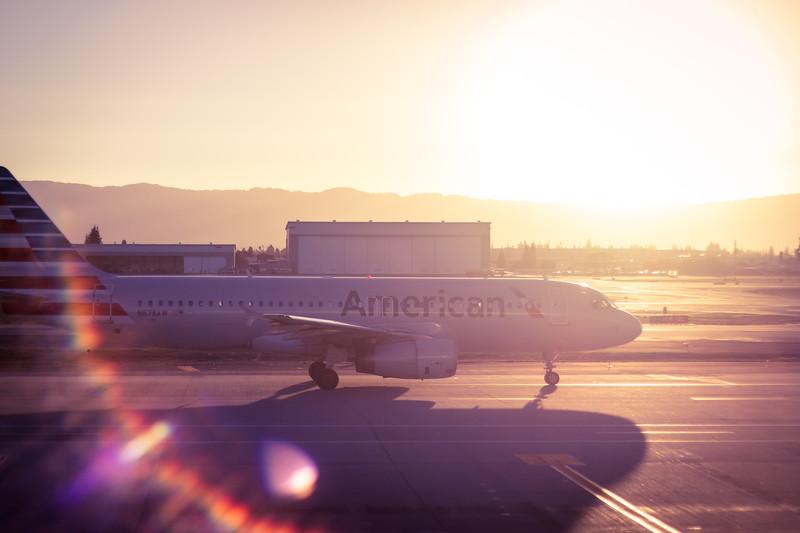 sun setting on american
