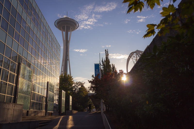 sunrise at the space needle