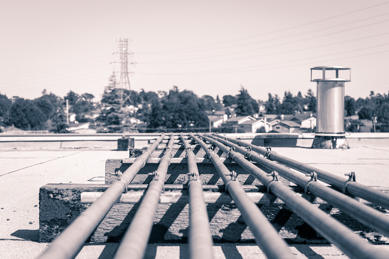 pipes on a rooftop
