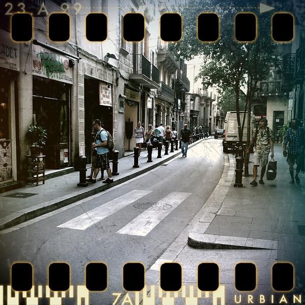 August 24th II: Street in Barcelona