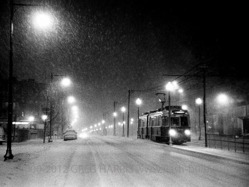 """""""Huntington Snow""""<br /> <br /> Voigtlander R2S + 5cm f1.4 Nikkor - 1/60sec @ f2 on Fuji Neopan 1600, Boston, MA, USA, 03-19-2005"""