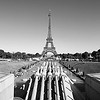 Eiffel Tower Portrait BW