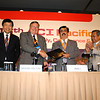 2006-1 Signing Ceremony officiating the merger of the Asia and Pacific regions. From L to R, Dr. David Pang, Mr. Max Moore-Wilton, Mr. M. Ahli, Mr. T. Nakamura