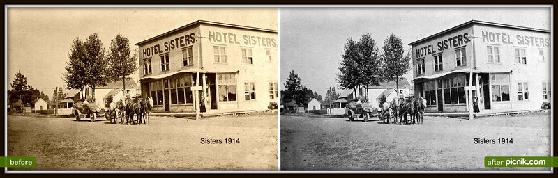 Sisters Hotel about 1914Sepia