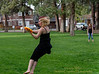 Frolicking Frisbee Fun - Village Green City Park in Sisters, OR - May 15 for the ADay.org project - Gary N. Miller - Sisters Country Photography