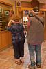 SAPC Photographers Sandra Koch and Jack Walker 'captured' Sisters Mayor Lon Kellstrom studying an historical display of photographs of the City of Sisters at the city's Public Library - Image by Leland Pershall