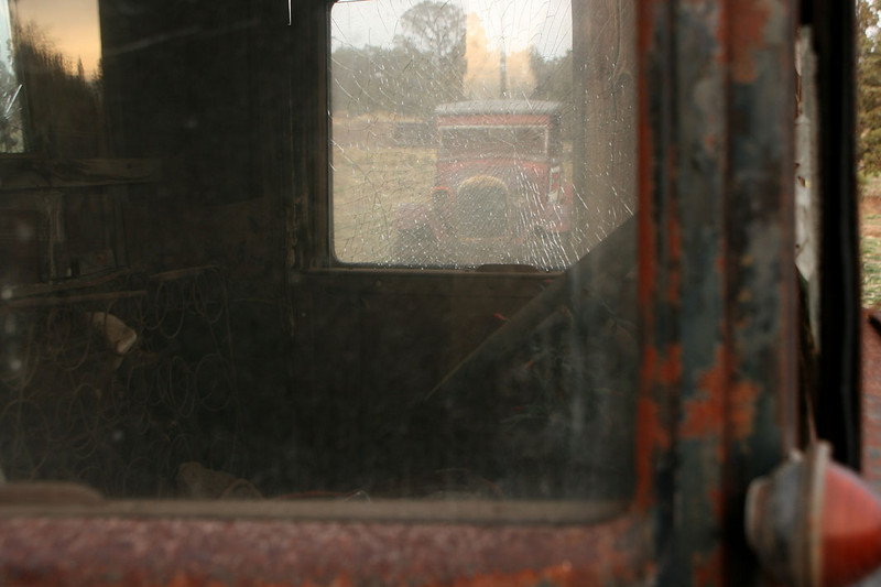 Window to the past. Photo by Sue Anderson.
