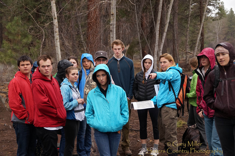 Wolftree's Sisters High School science class outing to Camp Polk Meadow Preserve - April 19, 2012 - Gary N. Miller - Sisters Country Photography
