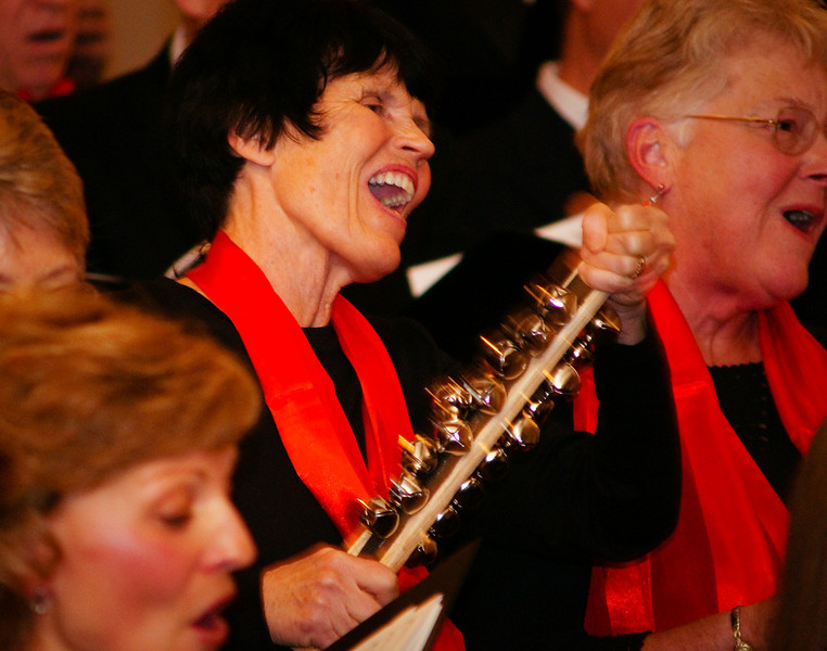 She sure knows how to jingle her bells! Sisters Community Choir - Gary Miller