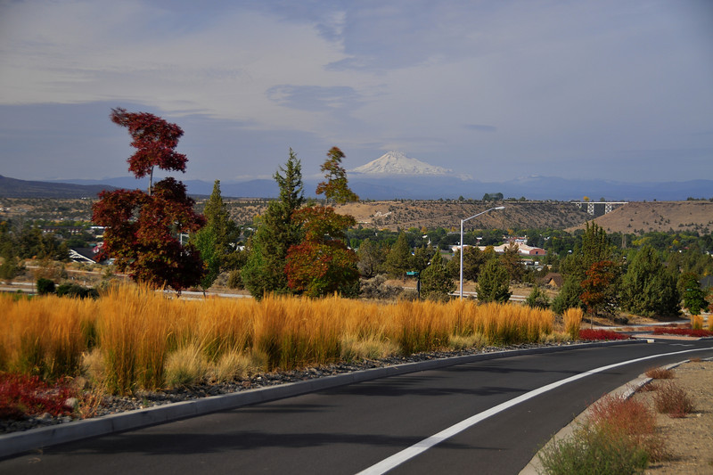 Colorful Signs of Fall in Madras. Looking west. From a set on Signs of Fall. Bill Vollmer