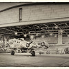 """""""Sentimental Journey comes home"""" First time that a B-17 has been in a hanger at Madras Airfield since WW II. From Madras Airshow 2011. Bill Vollmer"""