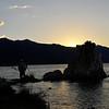 Sunset over Mono Lake, Tuffa and photographers.  BV