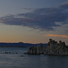 Clouds just beginning to show color over Tuffa at Mono Lake. BV