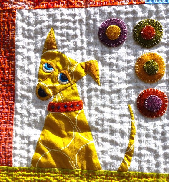 Quilt Dog with an Attitude  by Lexie Bakewell