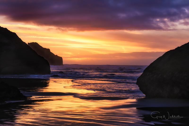 End of Day Bandon, Oregon ~ gregwaddell Photography