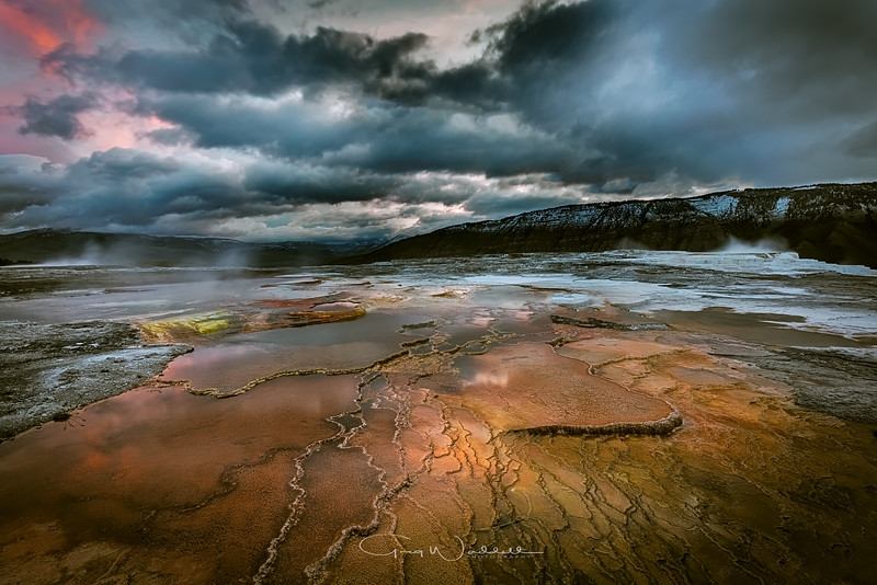Yellowstone Pools  ~  gWaddell Photography